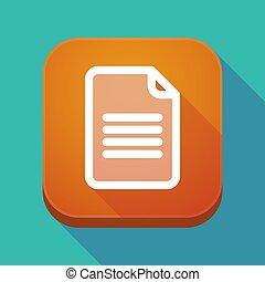 app, document, ombre, long, icône