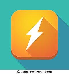 app, icône, ombre, long, éclair
