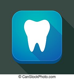 app, icône, ombre, long, dent