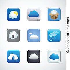 app, nuage, icônes
