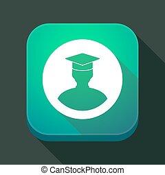 app, ombre, étudiant, long, icône