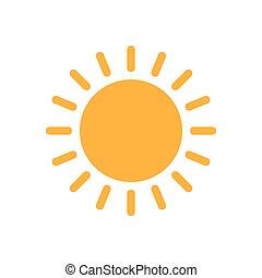 app, vector., lumière soleil, plat, site web, toile, pictogram., icône, été, soleil, mobile, illustration, bouton, conception, symbole.