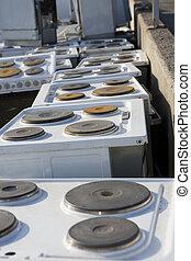 appareil, déchets, cuisine