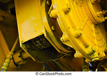 appareil, jaune, mécanique