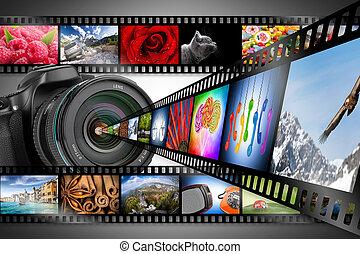 appareil photo, concept, dslr
