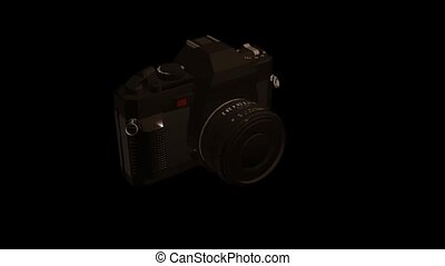 appareil photo, noir