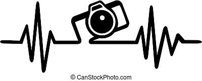 appareil photo, photographe, pulsation