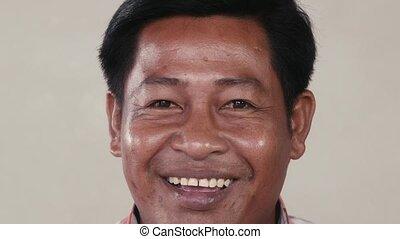 appareil photo, rire, homme, asiatique