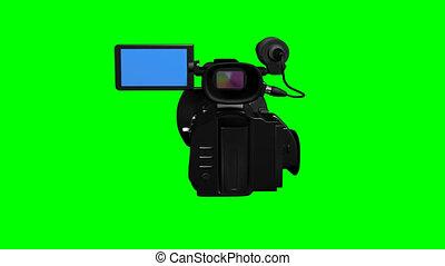 appareil photo, tã©lã©viseur, vert