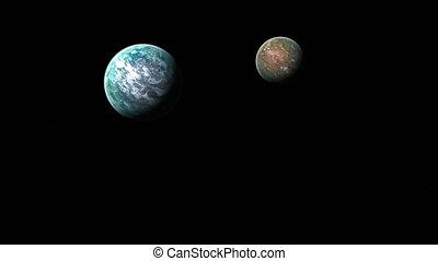 appareil photo, vol, plusieurs, planètes