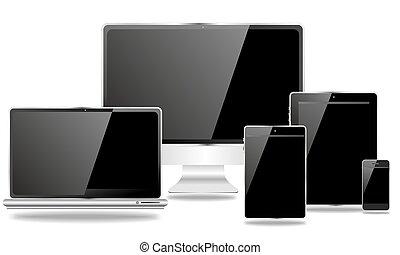 appareils, bureau, mobile