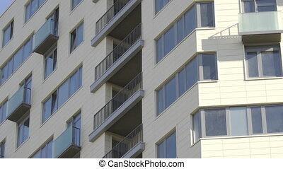 appartement, nouveau, fenetres, résidentiel, dormir, secteur, moscou, balcons, bâtiment