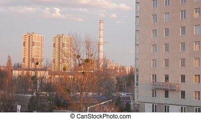appartement, nouveau, tuyau, bâtiment industriel