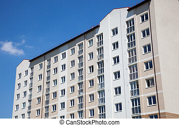 appartement, partie, bâtiments.