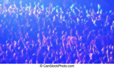 applaudissement, 4, foule, concert