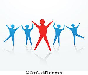 applaudissement, concepts, reussite, business