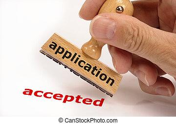 application, accepté