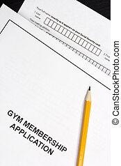 application, appartenance gymnase