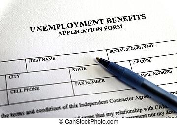 application, avantages, chômage, formulaire