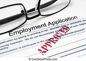 application, emploi