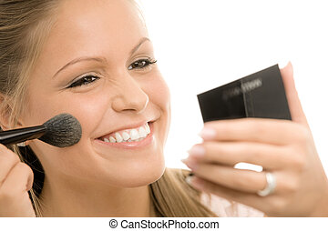 application maquillage