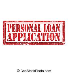 application, prêt, personnel