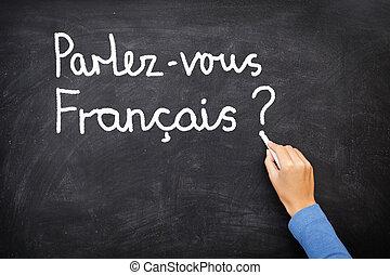 apprentissage, langue française