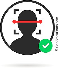 approuvé, scanner, logo, figure, id