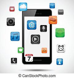 apps, smartphone, flotter