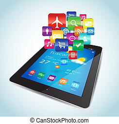apps, tablette