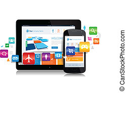 apps, tablette, smartphone