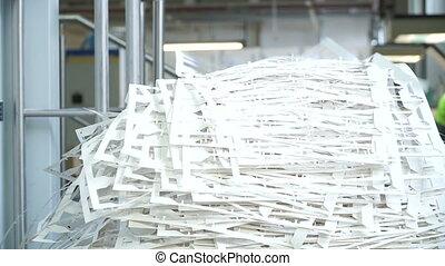 après, impression, house., découpage, papier, gaspillage