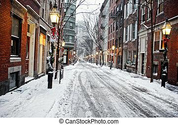 après-midi, neigeux