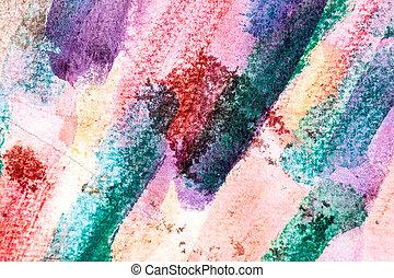 aquarelle, coups, peinture, closeup