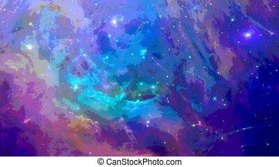 aquarelle, fond, espace