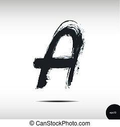 aquarelle, lettre, calligraphic