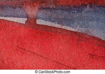 aquarelle, papier, fond, texture, rouges