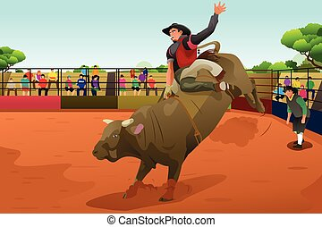 arène, rodeo cavalier