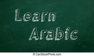 arabe, apprendre