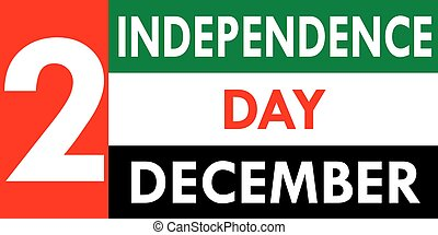 arabe, uni, emirats, jour, indépendance