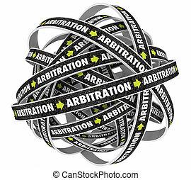 arbitrage, piège, interminable, cycle, illustration, boucle, processus, 3d