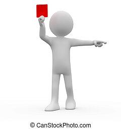 arbitre, carte rouge, projection