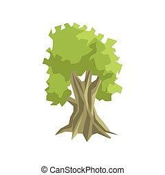 arbre, élément, jungle, feuillage, grand, paysage