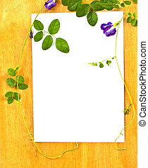 arbre., bois, fixation, concept., papier, fond, conservation, lierre