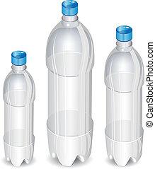 arbre, bouteilles, plastique