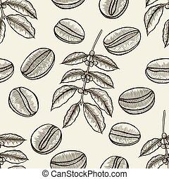 arbre, café, branches