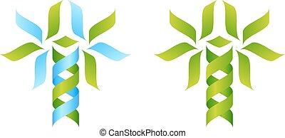 arbre, concept, adn, icône