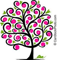 arbre, conception abstraite, ton