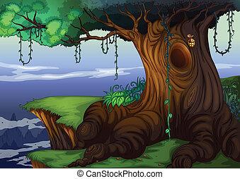 arbre, creux