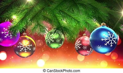 arbre, décorations noël, boucle